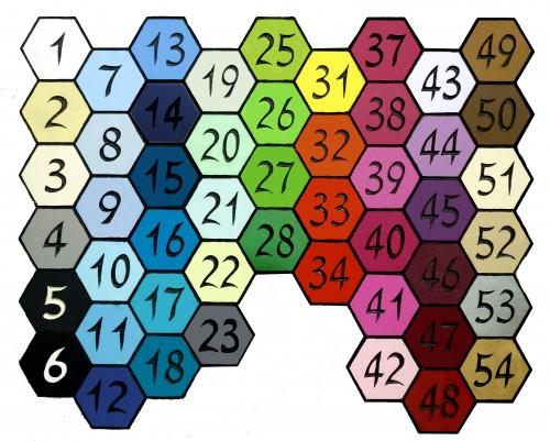 פלטת צבעים לשלטים